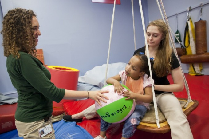 Young girl working with Occupational Therapists