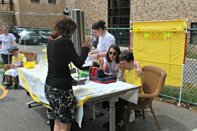Kennedy Day School Lemonade Stand - Selling Lemonade