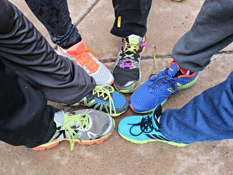 Colorful Sneakers in a Circle