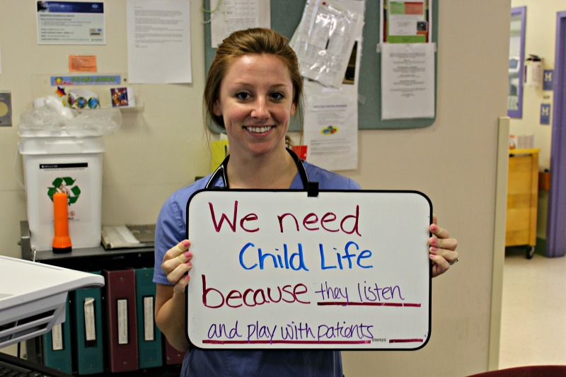 """We need Child Life because they listen and play with patients."""