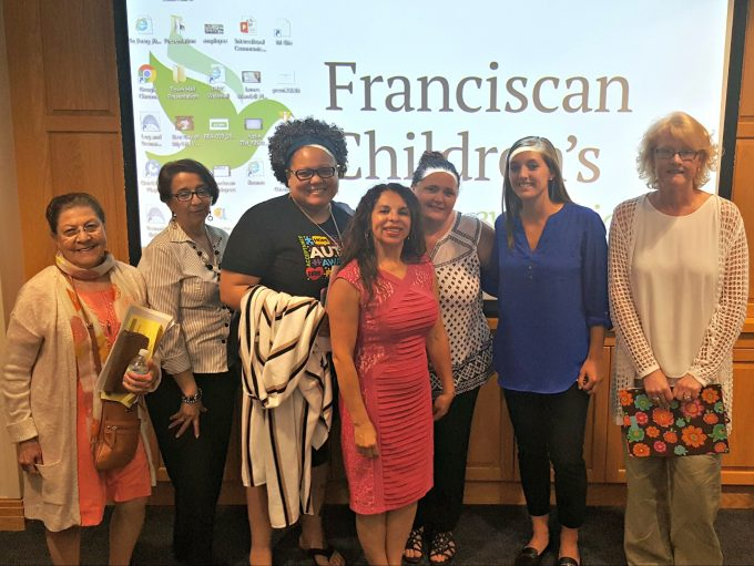 Attendees from the recent PPAL training at Franciscan Children's