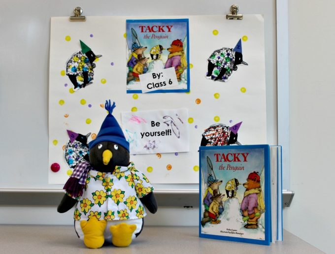 KDS Drop Everything and Read - Classroom 6 project Tacky the Penguin