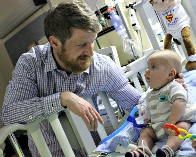 Eamonn was born prematurely at one pound thirteen ounces and experienced complication after complication as a NICU patient. When he was stable enough, he was transferred to Franicscan Children's pulmonary rehabilitation program to grow.
