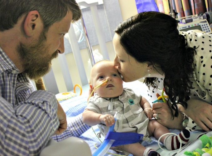 Eamonn, a patient in our Pulmonary Rehabilitation program, is pictured with his parents