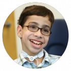Kevin is a student at the Kennedy Day School at Franciscan Children's