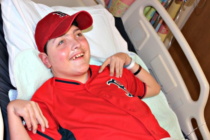 Brandon Smart receives rehabilitative therapies in our Pediatric Rehabilitation program