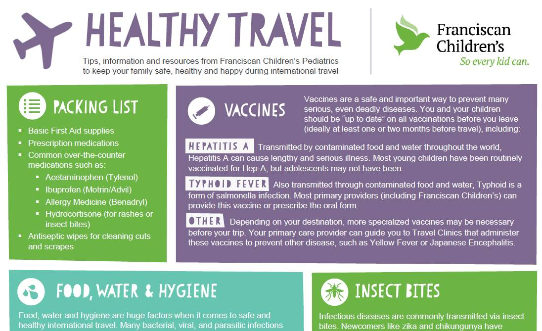 Healthy Travel Infographic Preview