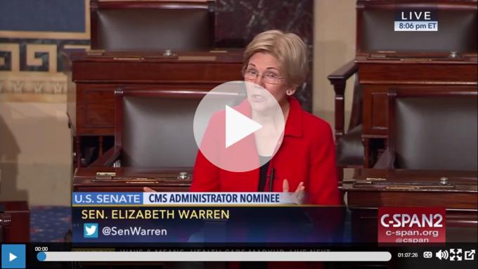 Senator Warren Medicaid Video