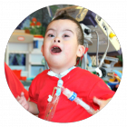 Kayden, a patient in our Pulmonary Rehabilitation program